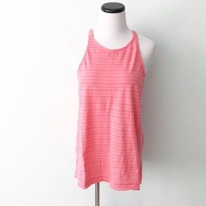 NWT Lou & Grey Coral pink striped bare Tank Top